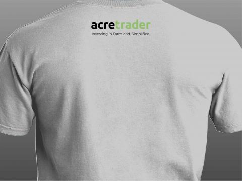 acre trader white t-shirt back