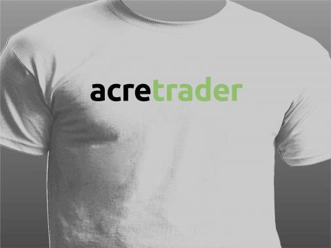 acre trader white t-shirt front