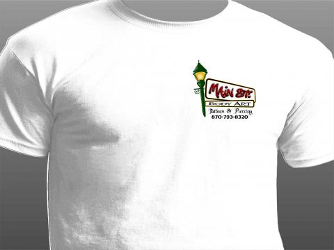 main street tattoo t-shirt front