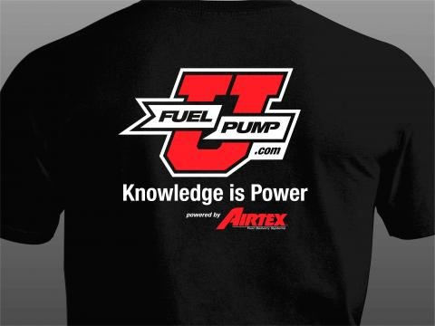 u fuel pump t-shirt front