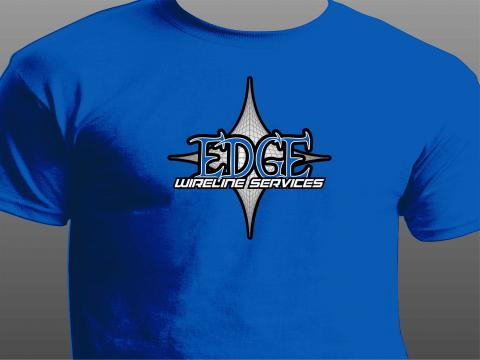 edge wireless services t-shirt blue front